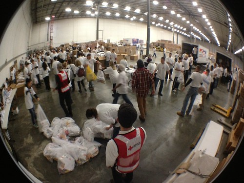 Sandy - Jersey City preparing bulk distribution supplies