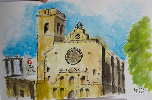 Iglesia, reloj. Riudoms