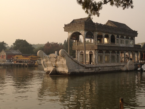 Beijing - the Summer Palace - stone boat