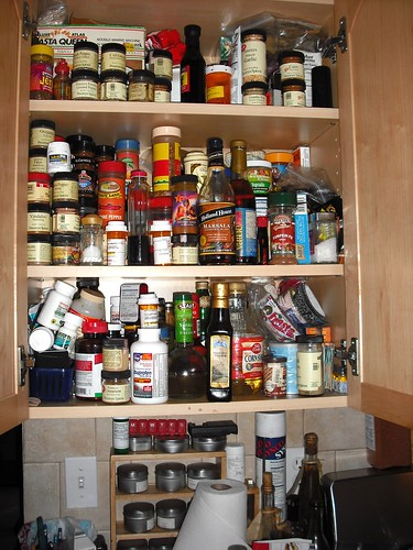 spice cupboard - BEFORE