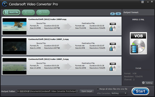 Click to view Cendarsoft Video Converter Pro screenshots