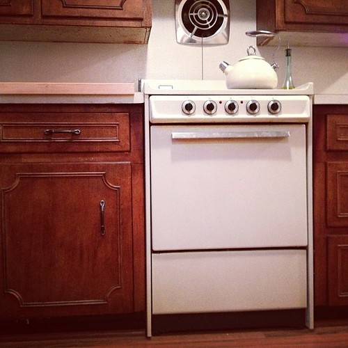 The 1950's called - they want their miniature appliances back. And their cabinets. And counters. They said the exhaust fan could stay though.
