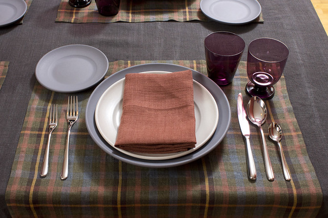 Libeco Harvest Linen Place Setting