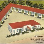 Melrose Motel, year round air conditioning, grill and cocktail lounge, Shreveport, Louisiana