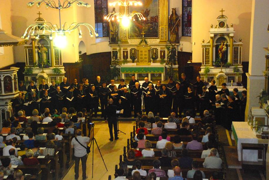 Singing City performs in the Catholic Church of St. Ilya in Zenica, Bosnia