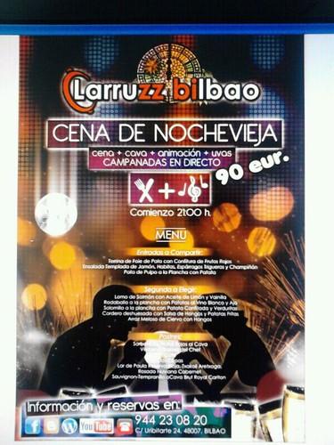 CENA NOCHEVIEJA en Larruzz Bilbao 2012 by LaVisitaComunicacion