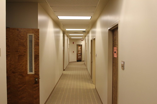 1:16 PM: Hallway in the Student Center