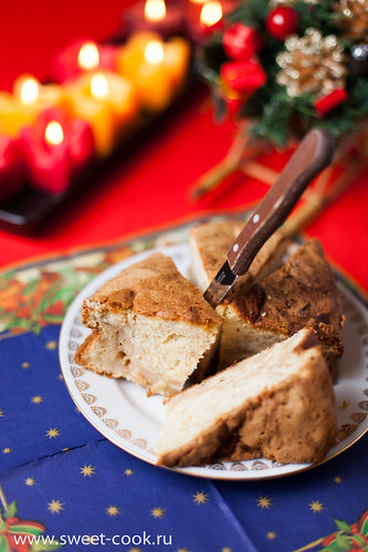 яблочный кекс с корицей