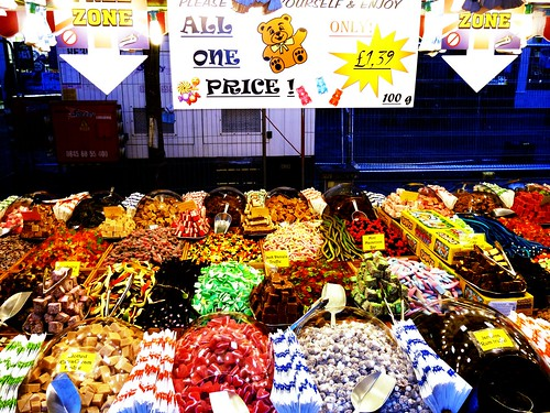 Colourful Confectionery at Glasgow Christmas Market