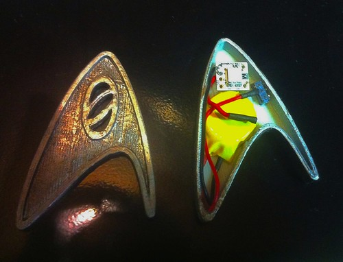 BlinkM MinM in Star Trek pin