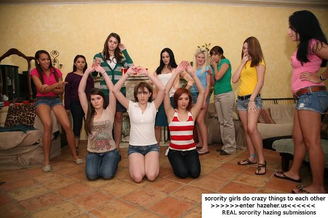 Opinion you Sorority hazing lesbian strapon not pleasant