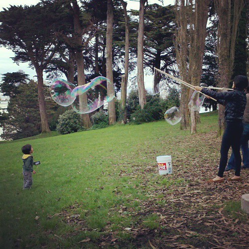 Bubble art at #alamosquare