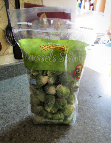 Bag of Brussels sprouts