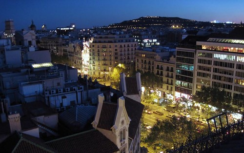 Barcelona's L'Eixample at night (c2012 FK Benfield)