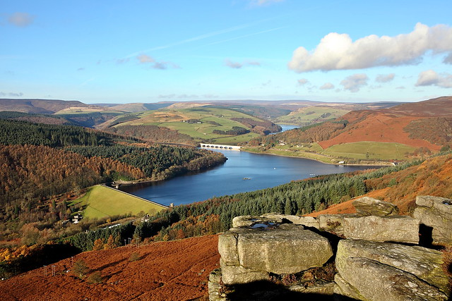 peak district walk around the ladybower reservoir, bamford