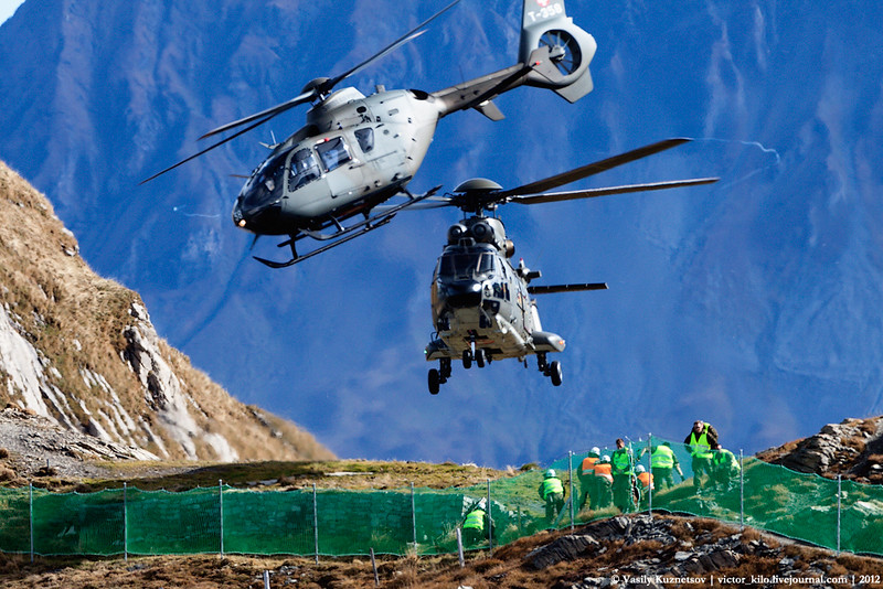 Two Swiss AF helicopters at Axalp