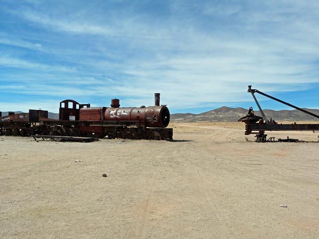 Tren oxidado de Uyuni (Bolivia)