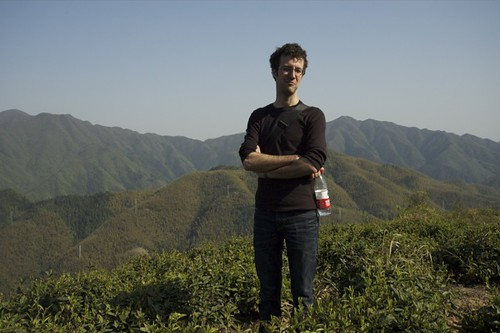 François dans le jardin du Huang Shan Mao Feng