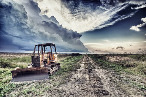 Storm Gathering over Rice Fields near Lake Arthur, LA