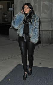 Kim Kardashian Bright Fur Trend Celebrity Style Women's Fashion