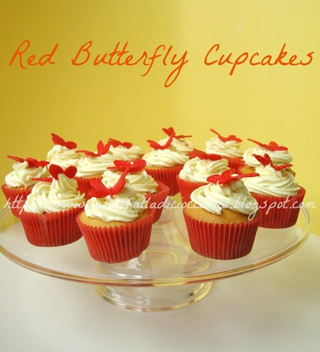 Red butterfly cupcakes 3