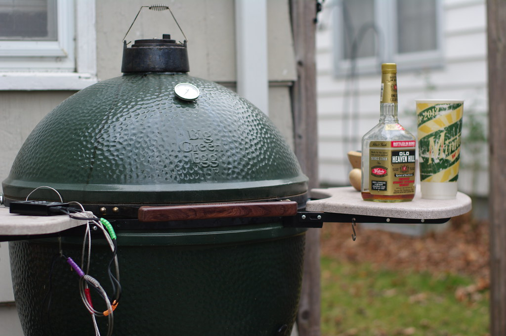 BIg Green Egg Thanksgiving dinner