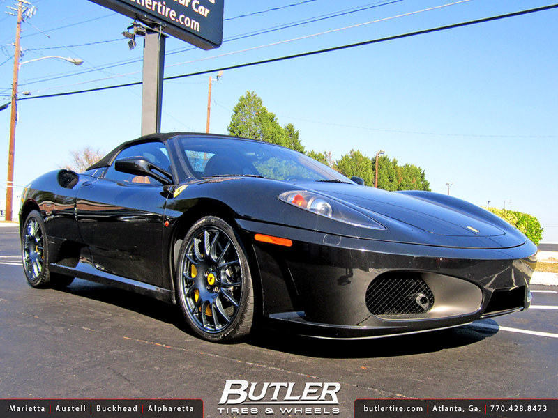 Ferrari F430 with 19in Carbon Fiber OE Wheels