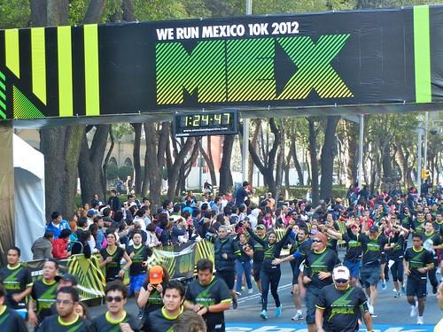 Resultados de la carrera Nike We Run México 2012 en el DF
