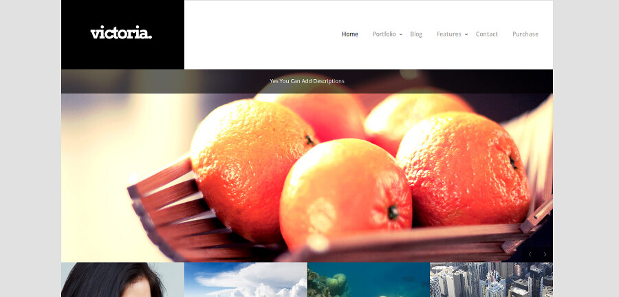 Victoria Portfolio WordPress Theme