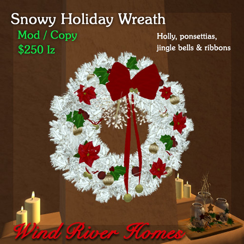 Wind River Holiday Wreath 2012 by Teal Freenote