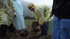 彎腰搬大石砌石,讓我們對土地更謙卑。