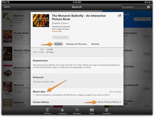 iBooks Versioning