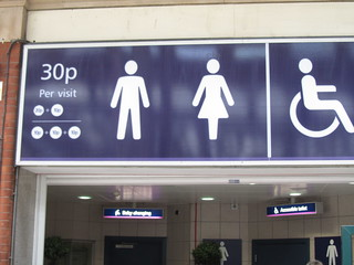 30p to use the toilets, London