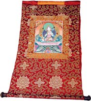 Tangkas are hung in Tibetan homes and are believed to protect and bless those who view them.