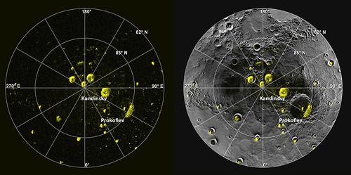 Mercurio, regioni ad alta riflettanza