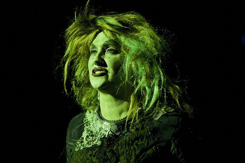 Oh yes I am! Isabella Jarrett returns as wicked Wysteria the witch in the Brunton Theatre's 2012 pantomime: Puss In Boots