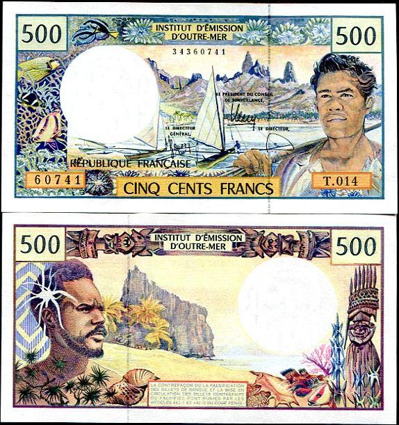 500 Frankov Francúzske zámorské územia v Pacifiku 1992, Pick 1b