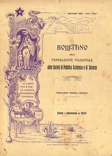 1908 il bollettino della Federazione
