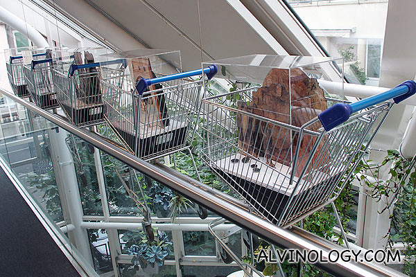 Flying supermarket trolleys