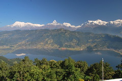 Fish-tail (Machapuchare), from World Peace Pagoda, Pokhara