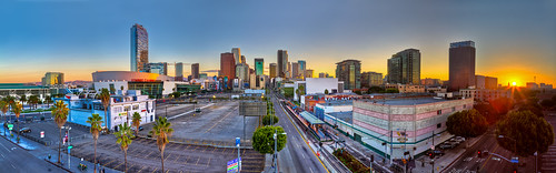 california rooftop sunrise subway losangeles parkinglot downtown cityscape blueline panoramic trainstation mta ritzcarlton subwaystation stitched dtla goldenhour sunbeams lightrays staplescenter trainline downtownlosangeles librarytower 2470mm figueroahotel losangelesconventioncenter usbankbuilding dwpbuilding expoline attcenter hdrsunrise hdrpanoramic rooftopsunrise canon7d cityscapepanoramic hdrcityscape theevo ©2012shabdrophoto hdrrooftop theecco