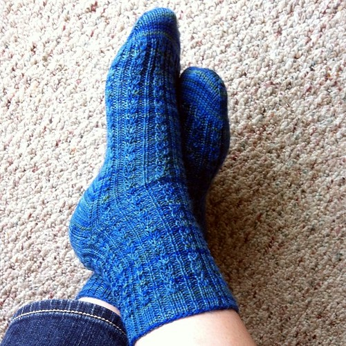 #norepeatdec Day 1: Conwy socks in Jknits yarn, knit for me by my friend Cathy