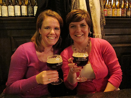 Meg and I with the Duchesse (on draft!)