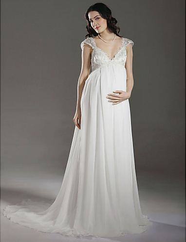 Plus size sheath maternity wedding dress at thedressunion for Plus size maternity wedding dresses