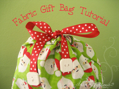 gift bag tutorial!