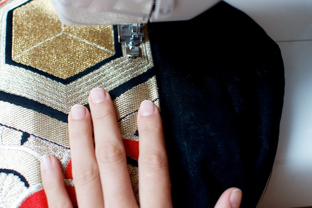 DIY japanese obi panel skirt 2