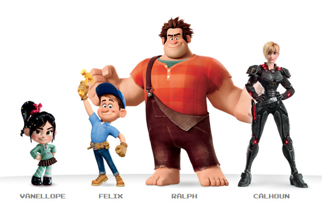 Wreck-It Ralph, Vanellope, Sergeant Calhoun, Fix-It Felix