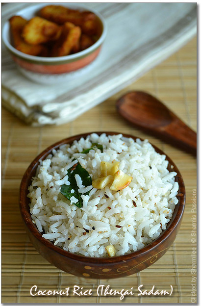 Thengai Sadam / Coconut Rice Recipe