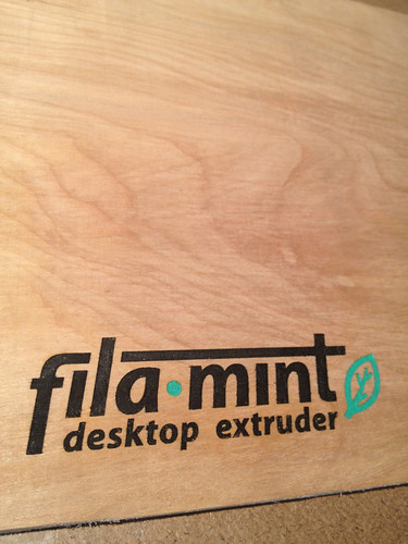 Our desktop filament extruder logo