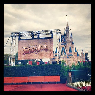 Waiting for New Fantasyland  ribbon cutting ceremony @ about 9AM